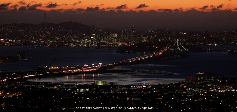 SF Bay Area Winter Sunset 3280 by Sanny Leviste